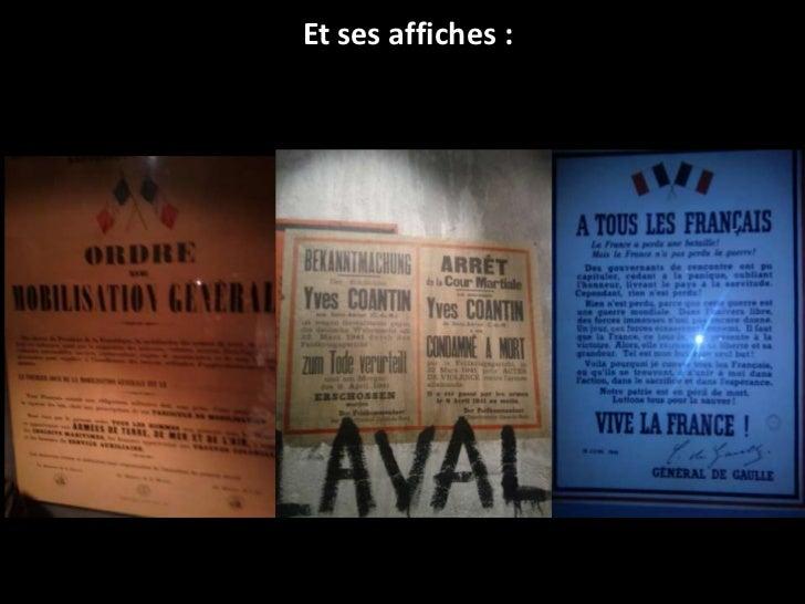 Et ses affiches :