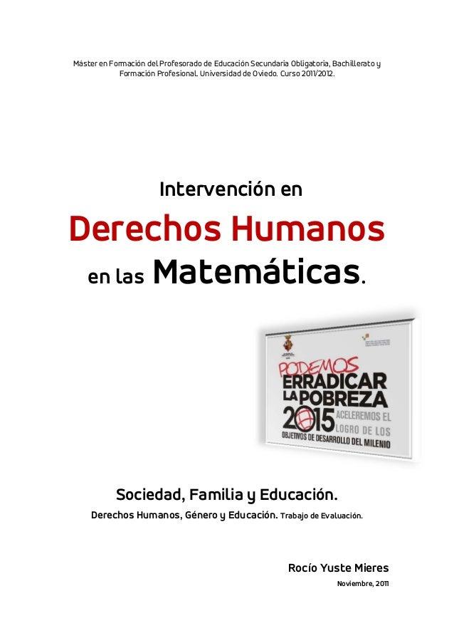 Intervención sobre Derechos Humanos en Matemáticas