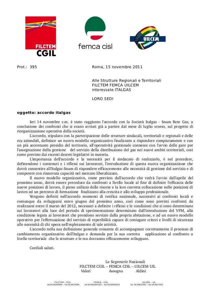 Prot.: 395                                                     Roma, 15 novembre 2011                                     ...