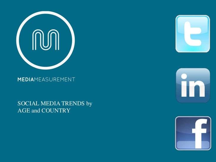 SOCIAL MEDIA TRENDS byAGE and COUNTRY