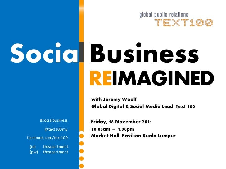 Social Business                           REIMAGINED                           with Jeremy Woolf                          ...