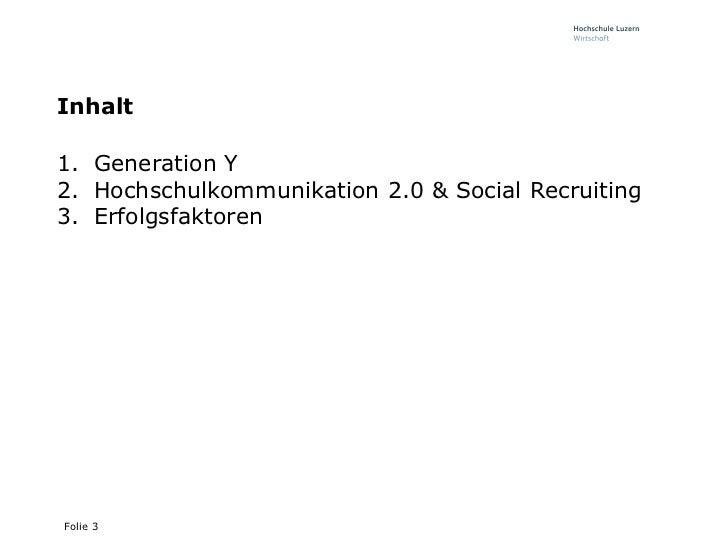 Social Media in der Praxis - Generation Y, Social Recruiting und Erfolgsfaktoren für den Einsatz von Social Media Slide 3