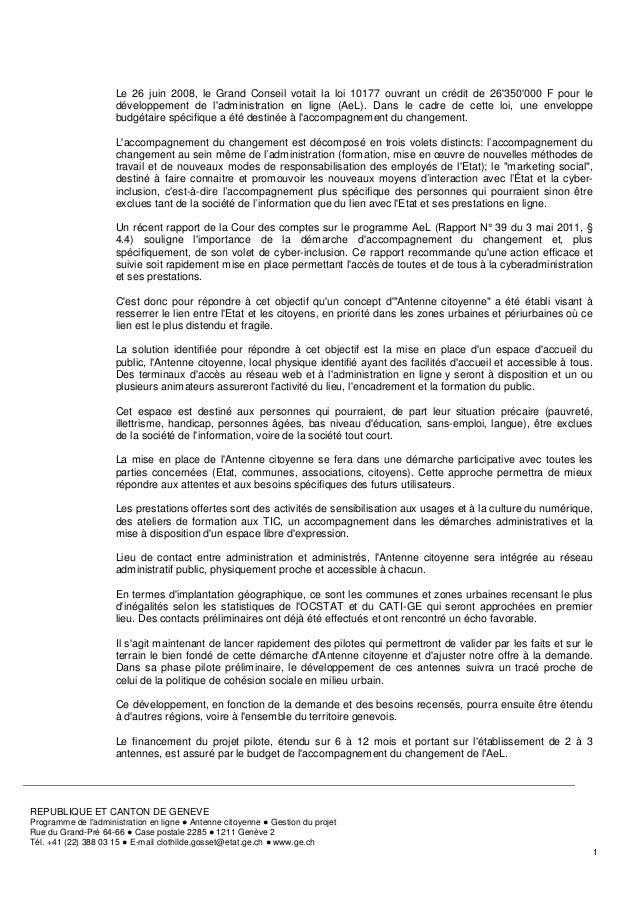 Antenne citoyenne: projet AeL de cyber-inclusion Slide 2