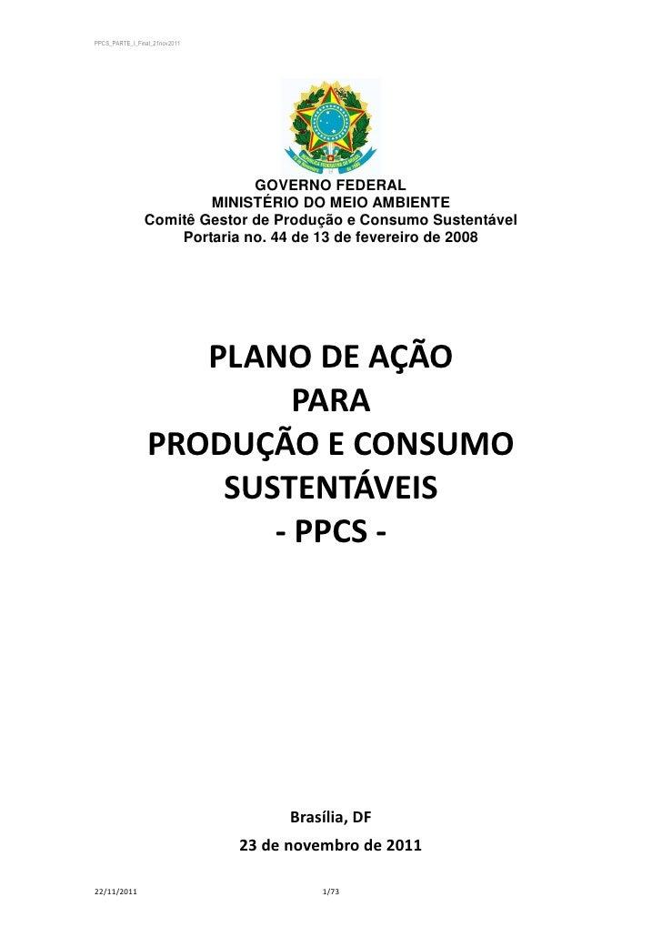 PPCS_PARTE_I_Final_21nov2011                              GOVERNO FEDERAL                        MINISTÉRIO DO MEIO AMBIEN...
