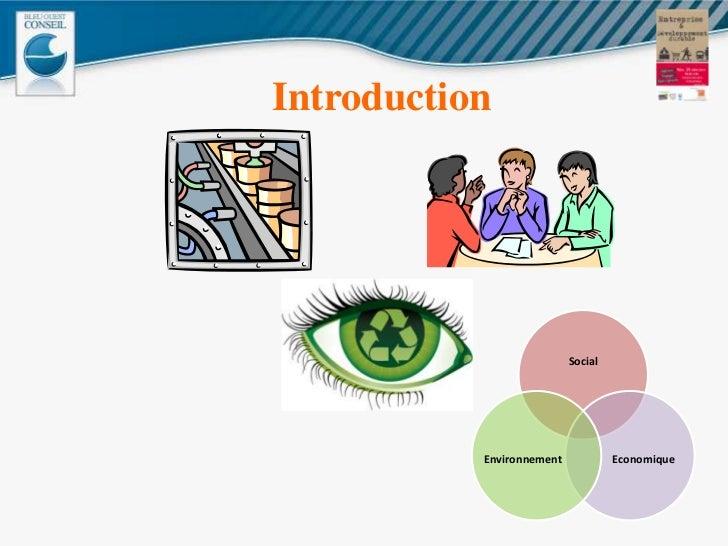 Entreprise et développement durable 25 11 11 Slide 2