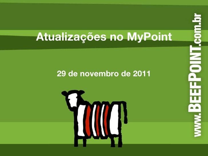 Atualizações no MyPoint 29 de novembro de 2011