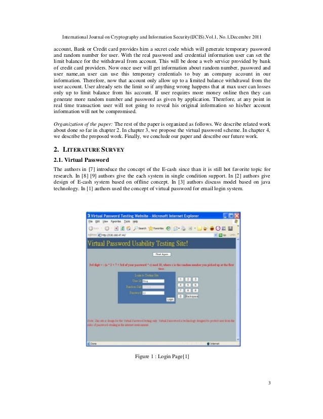 International Journal on Cryptography and Information Security(IJCIS),Vol.1, No.1,December 2011 3 account, Bank or Credit ...