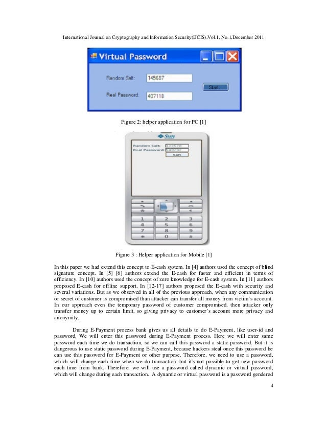 International Journal on Cryptography and Information Security(IJCIS),Vol.1, No.1,December 2011 4 Figure 2: helper applica...