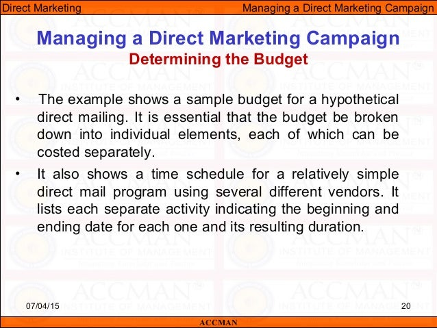 Managing Direct Marketing Campaign