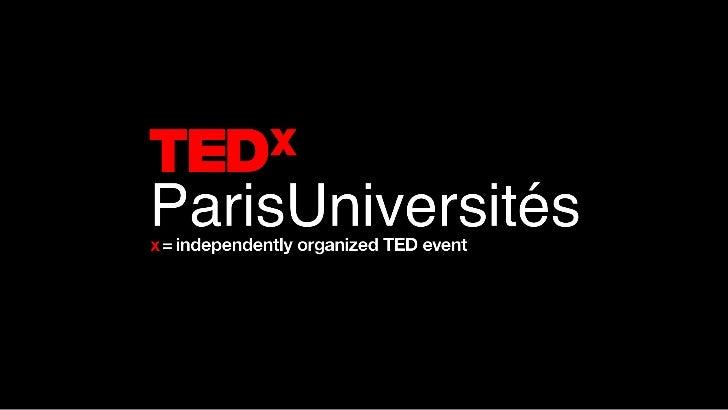 Depuis 25 ans, la conférence TEDrassemble pendant 4 jours aux Etats Unis,chercheurs, entrepreneurs, artistes,penseurs, inv...