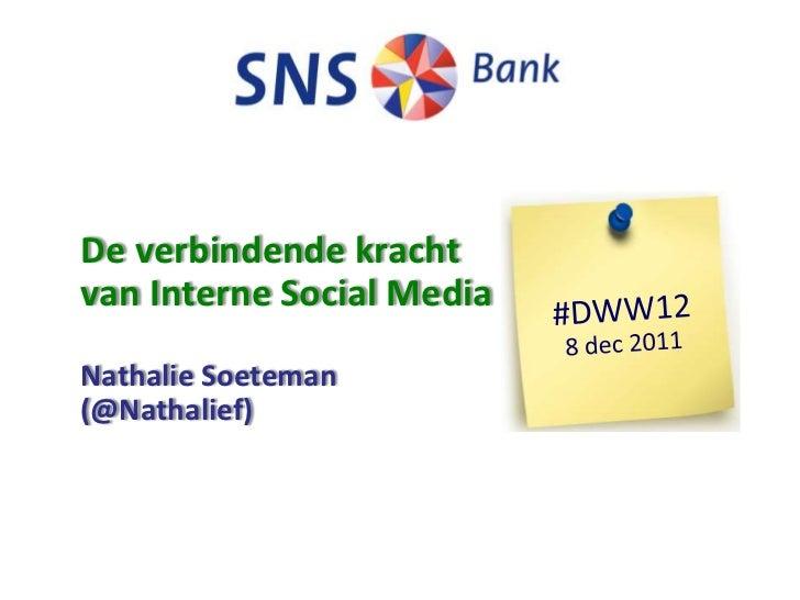 De verbindende krachtvan Interne Social MediaNathalie Soeteman(@Nathalief)