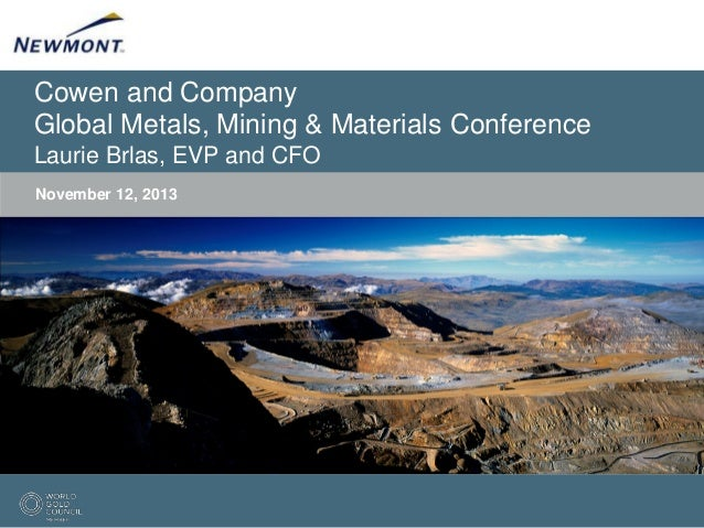 Cowen and Company Global Metals, Mining & Materials Conference Laurie Brlas, EVP and CFO November 12, 2013