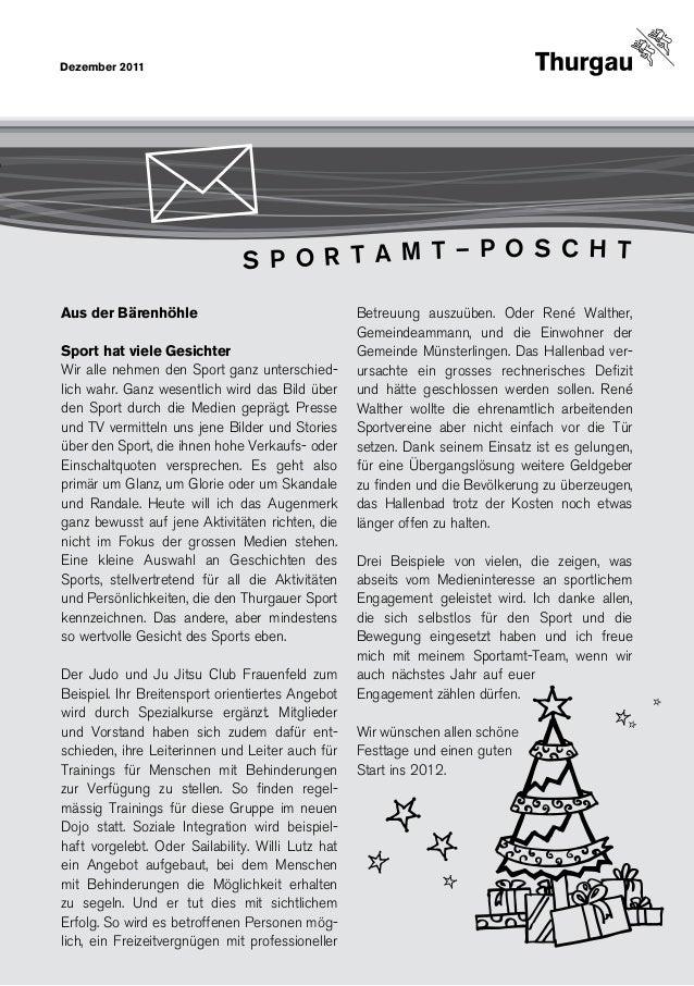 Dezember 2011                               S P O R T A M T – P O S C H TAus der Bärenhöhle                              ...