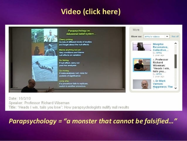 anomalous psychology and pseudoscience Anomalous psychology  scientific 78 many in the scientific community consider parapsychology a pseudoscience because it continues to explore the .