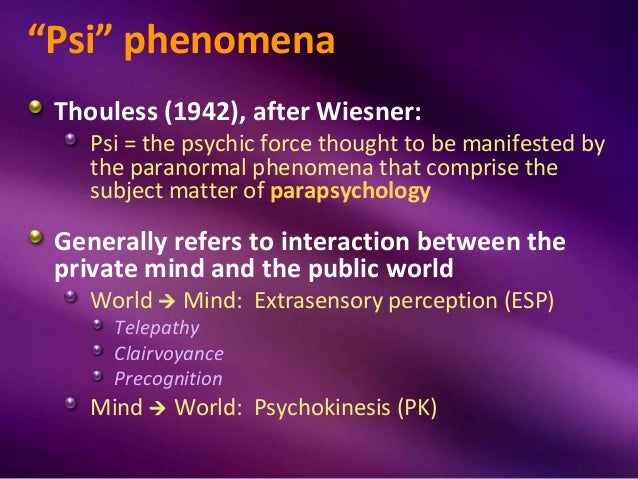 esp extrasensory perception examples