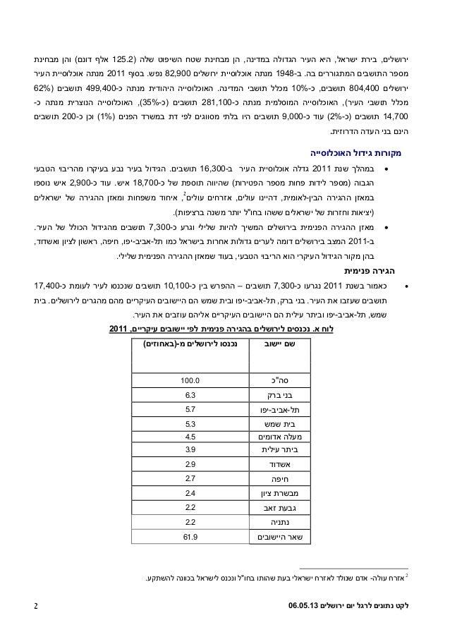 11 13 119b (1)נתונים ליום ירושלים  Slide 2