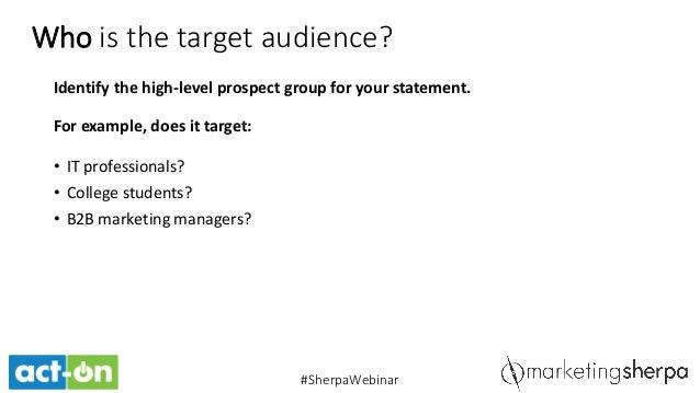 target market statement