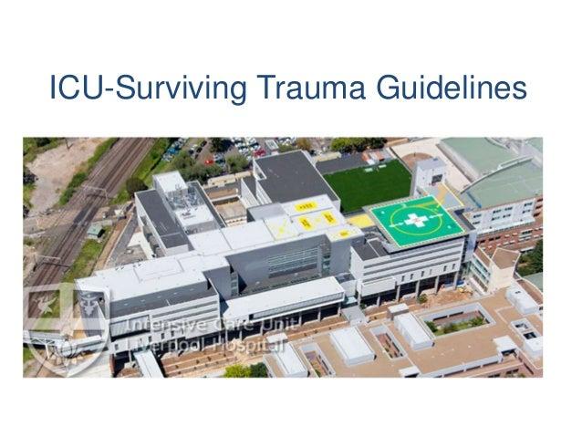 ICU-Surviving Trauma Guidelines