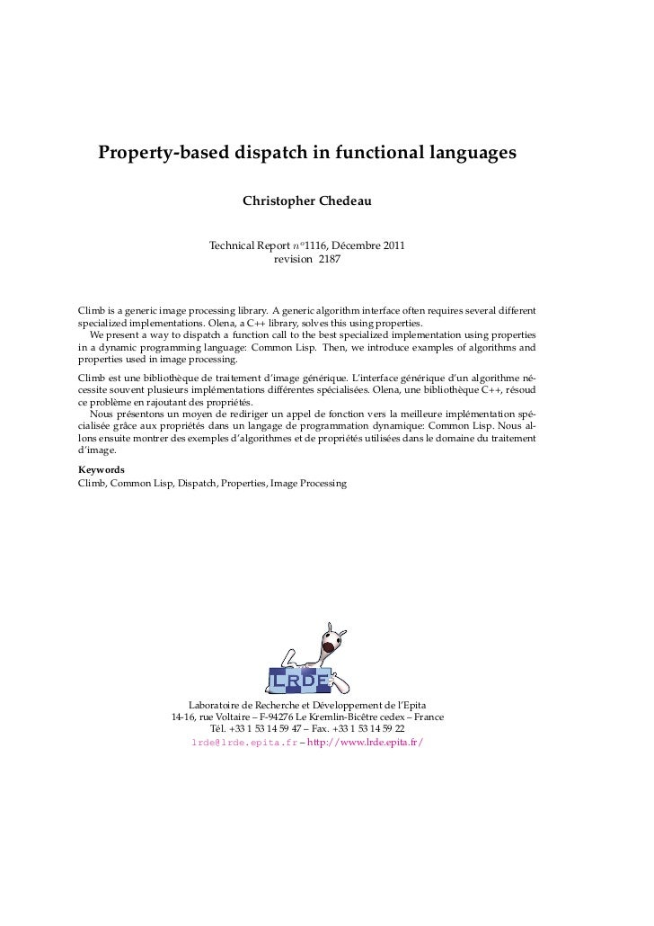 Property-based dispatch in functional languages                                      Christopher Chedeau                  ...