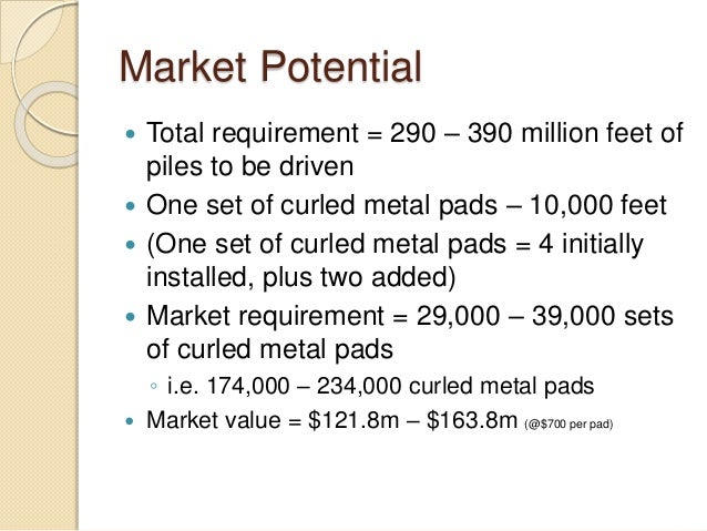 curled metal inc market potential and marketing objectives Curled metal inc solution - free download as powerpoint presentation analyze the market potential for curled metal cushion pads implications of price on company's strategic & marketing objectives for the product curled metal b2b marketing • • • • •.