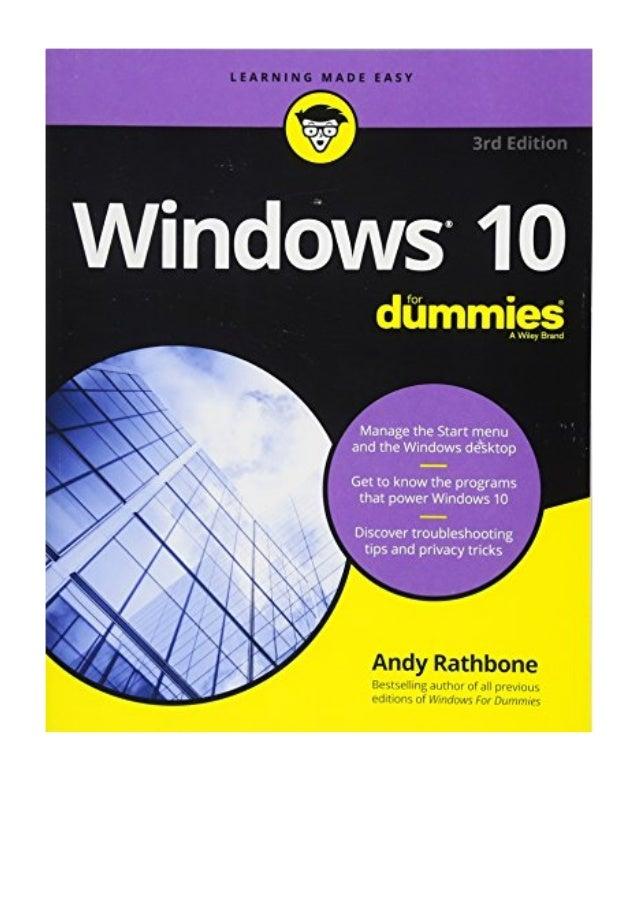 Windows 10 For Dummies Pdf Andy Rathbone For Dummies