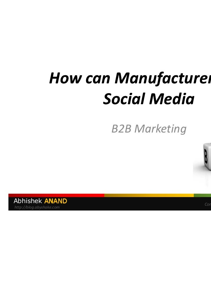 Social Media Marketing for Manufacturers