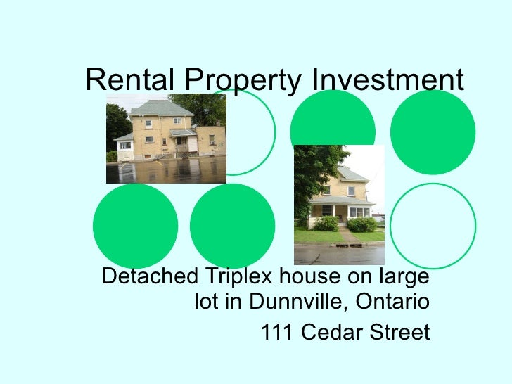 Rental Property Investment Detached Triplex house on large lot in Dunnville, Ontario 111 Cedar Street