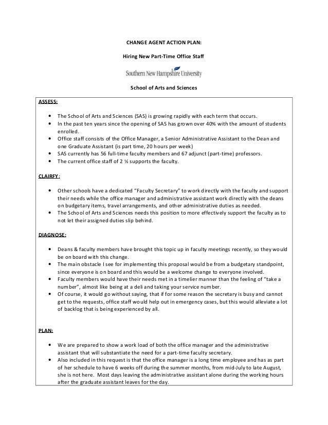 CHANGE AGENT ACTION PLAN 021213