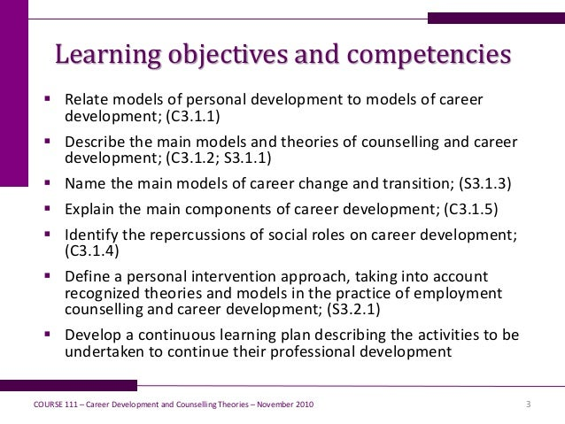 Career Development and Counselling Theories
