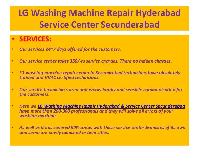 Lg Washing Machine Repair Hyderabad Service Center