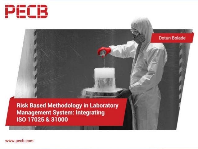 Risk based methodology in Laboratory Management System