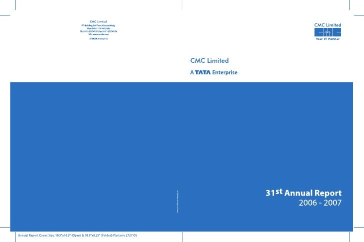 CMC Limited                                                                      Thirty first annual report 2006 - 2007   ...
