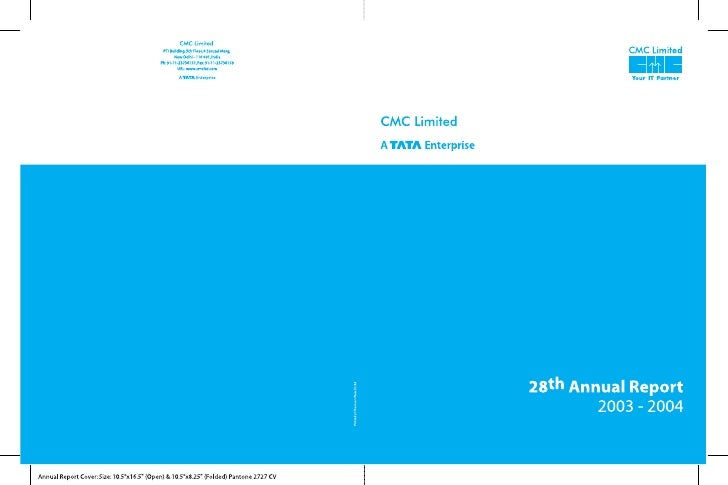 CMC Limited                                                                    Twenty eighth annual report 2003 - 2004    ...