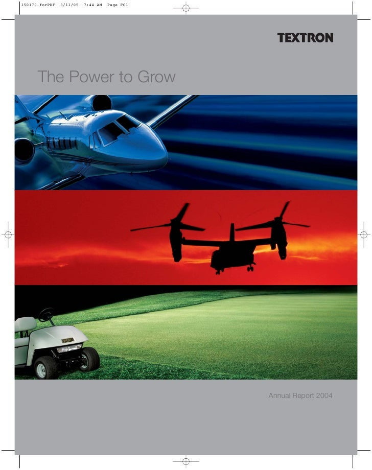 textron annual report 2004