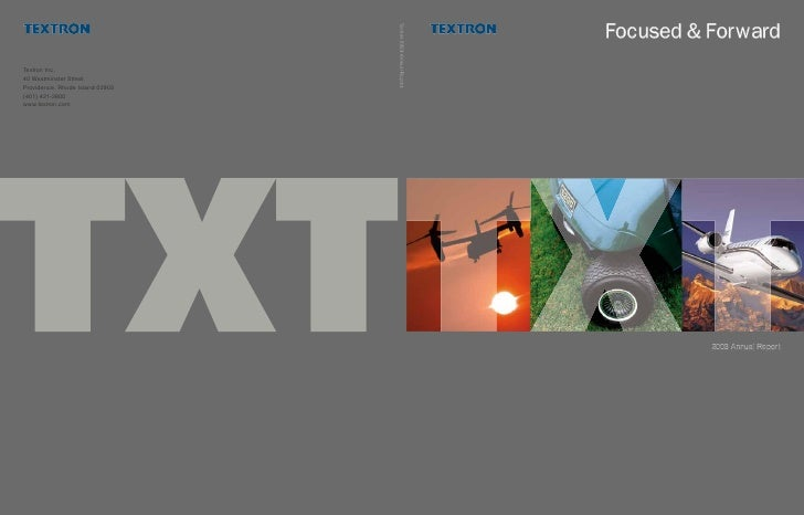 Textron 2003 Annual Report                                  Focused & Forward                                            2...