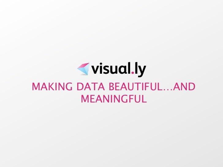 MAKING DATA BEAUTIFUL…AND        MEANINGFUL
