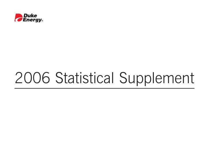 2006 Statistical Supplement