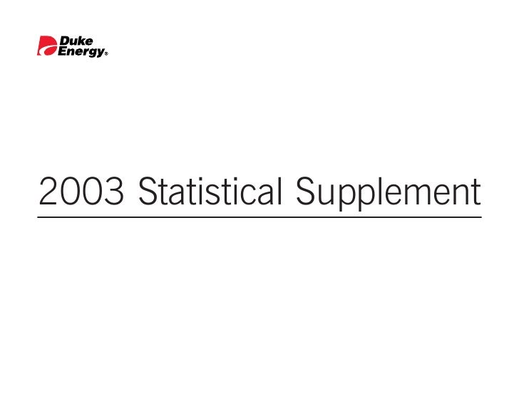 2003 Statistical Supplement