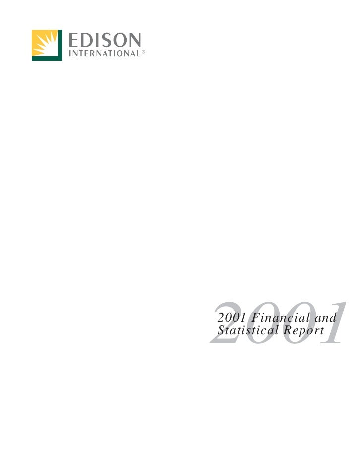 2001 2001 Financial and Statistical Report