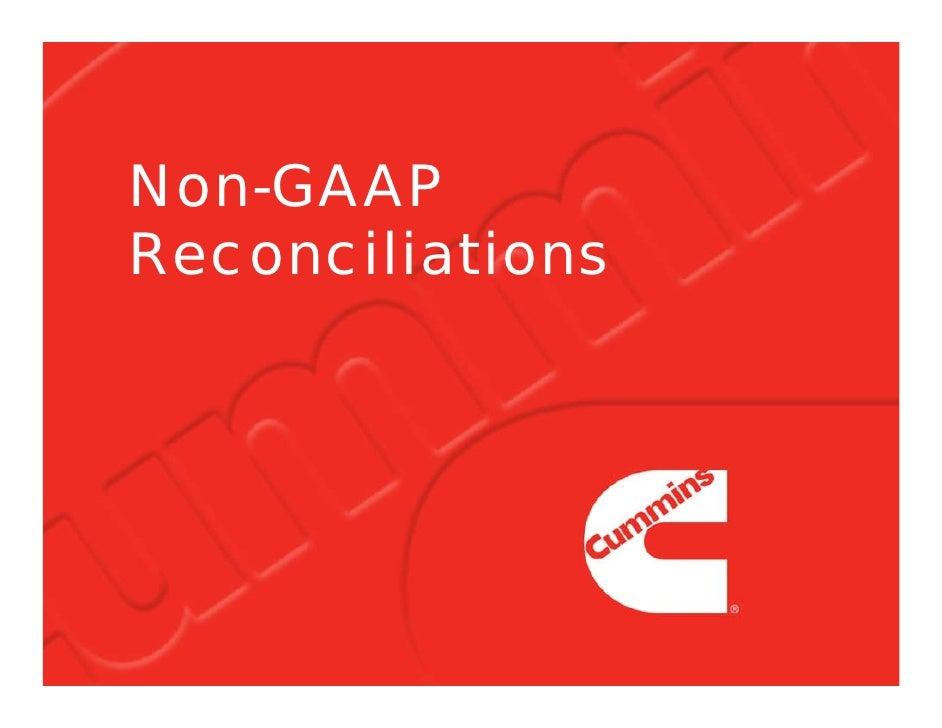 Non-GAAP Reconciliations