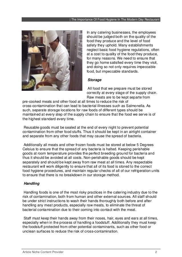 Importance Of Food Hygiene Modern Day Restaurant