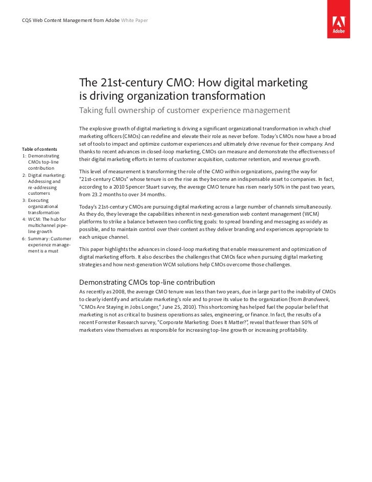 CQ5 Web Content Management from Adobe White Paper                          The 21st-century CMO: How digital marketing    ...