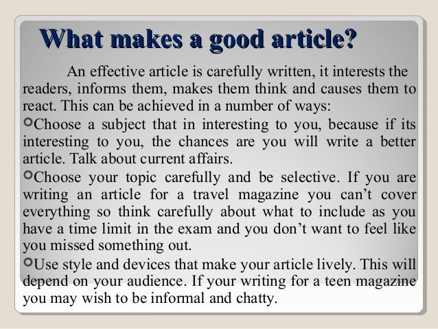Wikipedia:Writing better articles