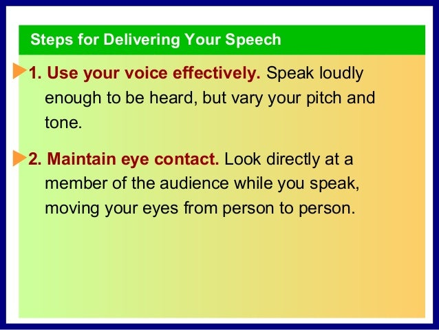 10 Keys for Writing a Speech