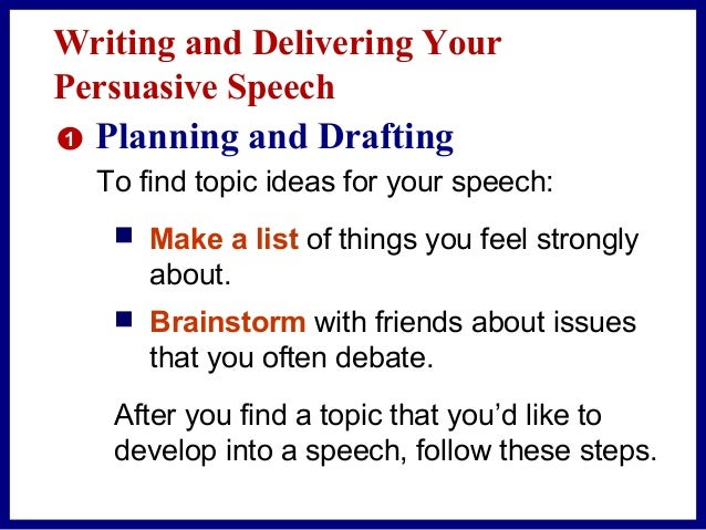 Writing a speech gcse
