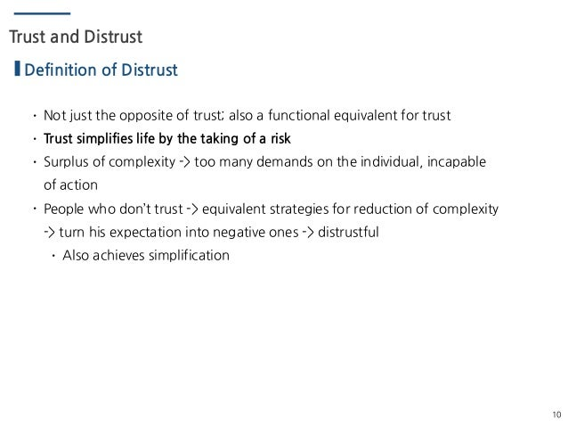 ... 10. 10 Trust And Distrust Definition ...