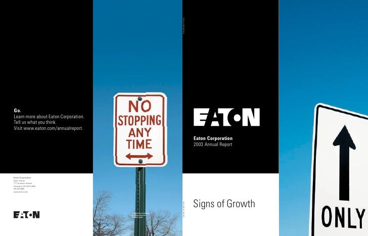 Eaton Corporation 2003 Annual Report     Signs of Growth