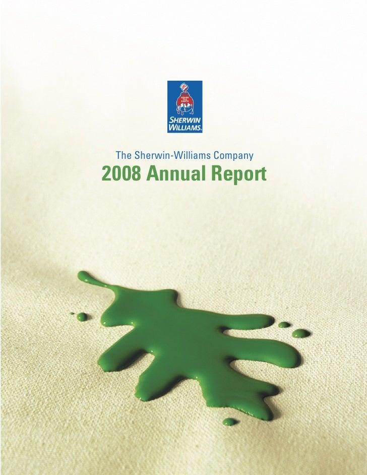 The Sherwin-Williams Company  2008 Annual Report