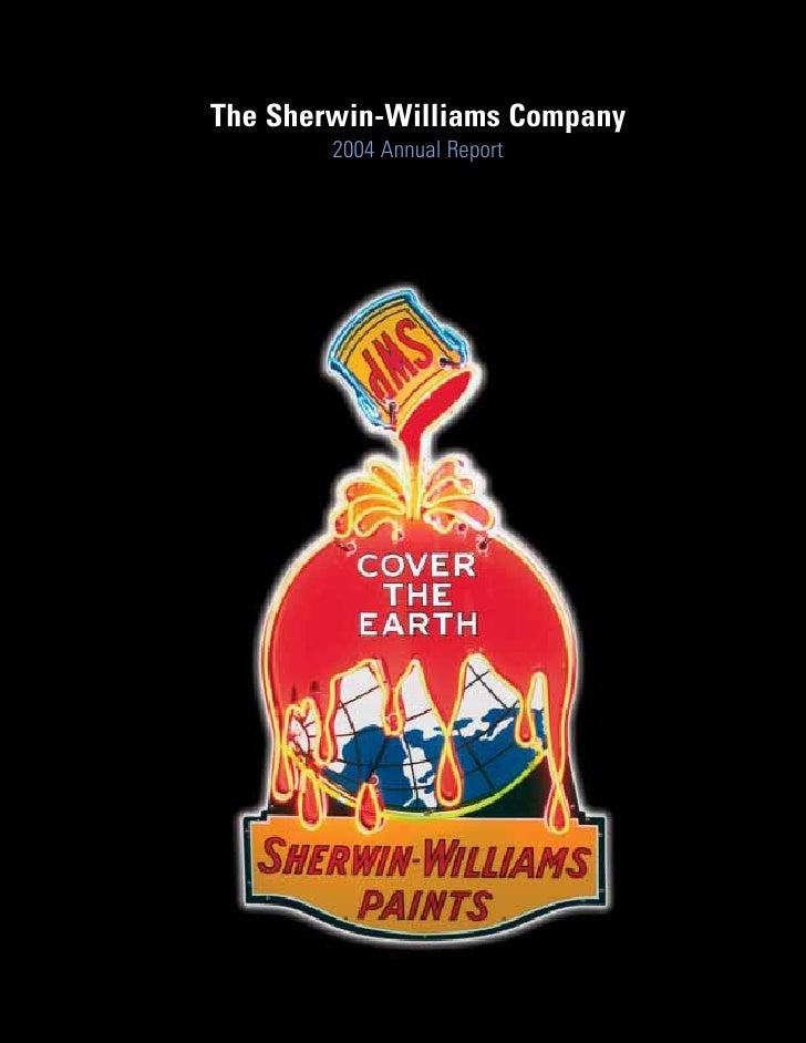 The Sherwin-Williams Company         2004 Annual Report
