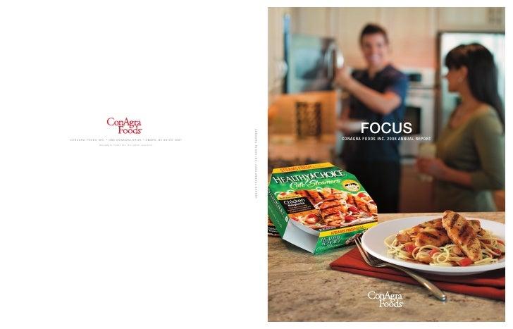 FOCUS C ona gra Foods InC. 2008 a nnua l report
